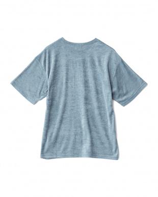 L.BLUE  パール編みポケット切替TEE WH見る
