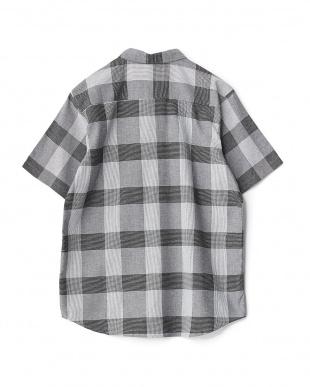 BLACK  マドラスチェック半袖シャツ WH見る