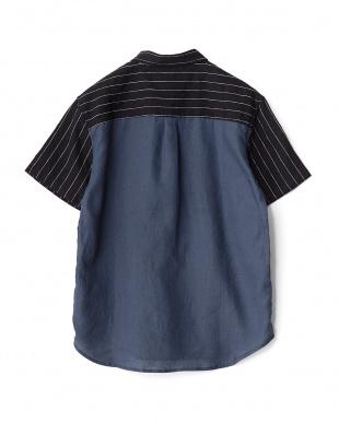 BLACK  バック切替リネンS/Sシャツ WH見る