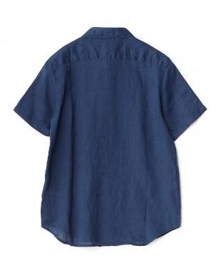 BLUE  フレンチリネン半袖レギュラー WH見る