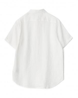 OFF WHITE  フレンチリネン半袖レギュラー WH見る