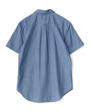 BLUE  ライトオンスデニム半袖シャツ WH見る