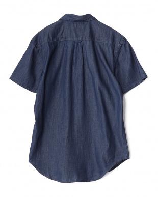 INDIGO  ライトオンスデニム半袖シャツ WH見る