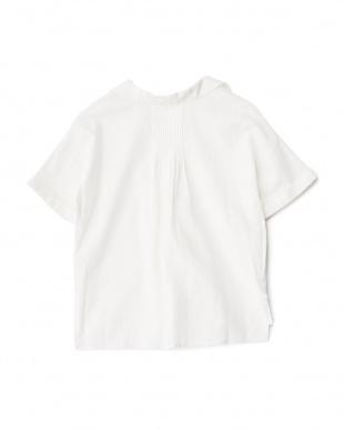 WHITE  バックギャザー半袖シャツプルオーバー ROSSO見る