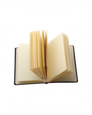 ブラック  Habana 10×15cmゴムバンド付きノート 横罫見る