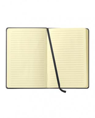 ブラック  Habana 16×24cmゴムバンド付きノート 横罫見る