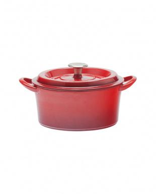 レッド キャストポット(鉄鋳物ホーロー鍋) 20cm見る
