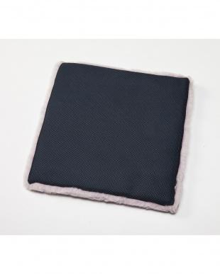 パープル 洗える羊毛シートクッション 43×43見る