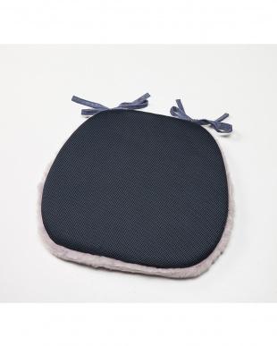 パープル  洗える羊毛ダイニングチェア用シート 40×38見る