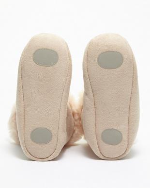 ベージュ  洗える羊毛室内ブーツ見る