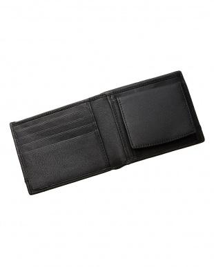 ブラック  ボックスタイプ 二つ折り財布見る