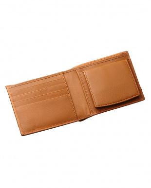 ブラウン  ボックスタイプ 二つ折り財布見る