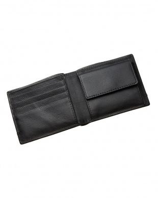 ブラック  カードポケット×7 二つ折り財布見る