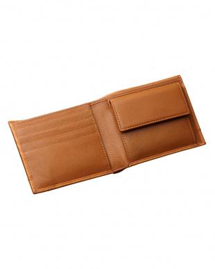 ブラウン  カードポケット×7 二つ折り財布見る