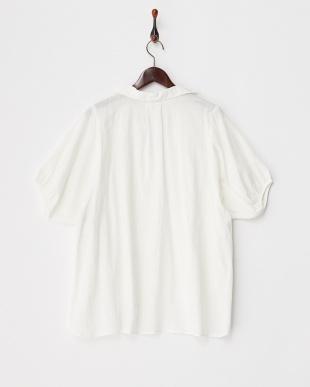 ホワイト  メンボイルスキッパーシャツ見る