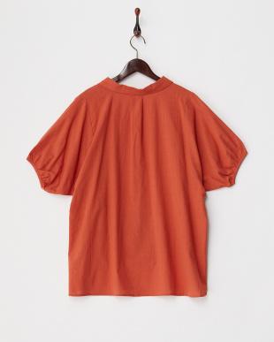 オレンジ  メンボイルスキッパーシャツ見る