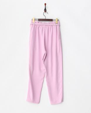 ピンク系  ベルト付きハイウエストパンツ見る