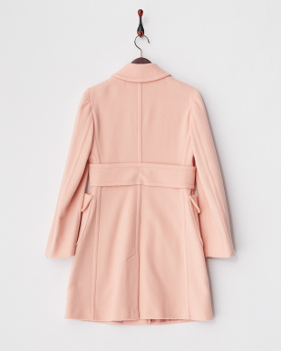 ピンク ILONA フラップポケットコート見る
