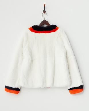 WHITE Fur Tennis Cardiganコート見る