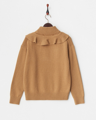 BROWN FRILL KNIT見る
