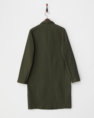 KHAKI Double face cotton coat見る