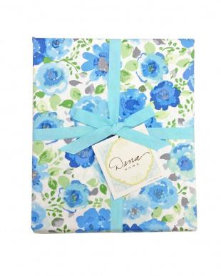 ブルー Roses 掛けふとんカバー シングル見る