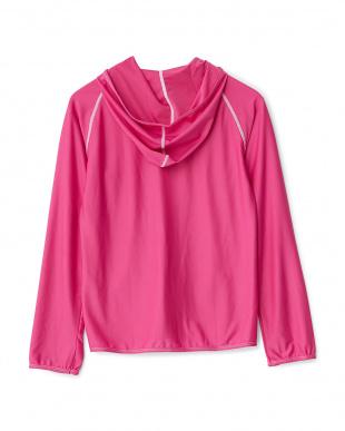 ピンク  ラッシュガード 長袖パーカ|WOMEN見る