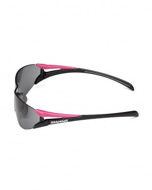 ピンク×ブラック ツインレンズサングラス|WOMEN見る