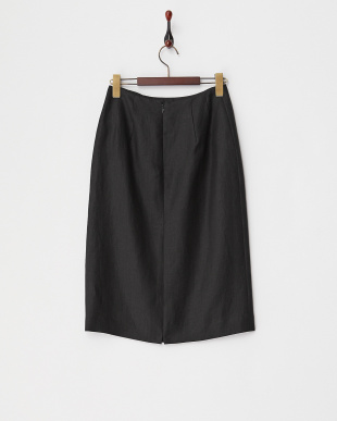 ブラック リネンタイトスカート見る
