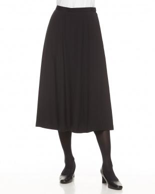 ブラック シルク Aラインスカート見る