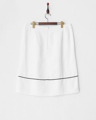 ホワイト  CLARA 配色パイピングスカート見る
