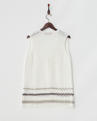 WHITE MARINA SPORT MAQUETTE Knitted Waistcoat見る