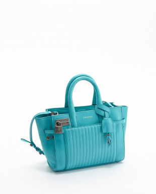 TURQUOISE  XS CANDIDE CUIR レザートートバッグ見る