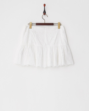 ホワイト JAMES VIN カットワーク刺繍スカート見る