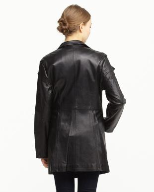 ブラック  ラムレザージャケット見る