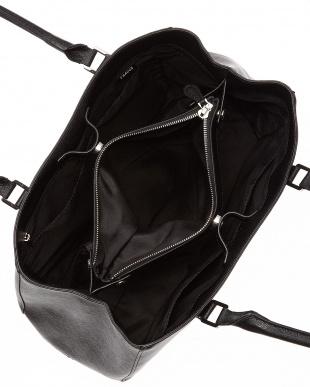ブラック  プリズム型押し・トートバッグ Mサイズ見る