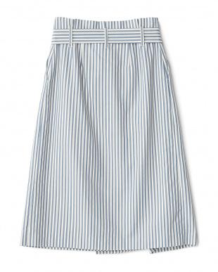 ライトブルー ラップ風シャツタイトスカート見る