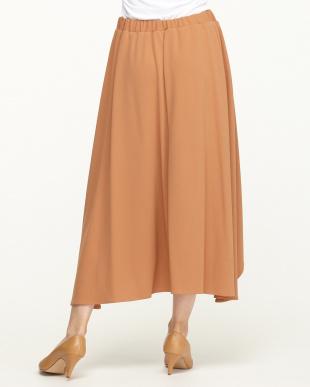 オレンジ IZ カットジョーゼットイレヘムラップスカート見る