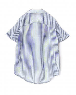 柄A  PV 刺繍ガーゼスキッパーシャツ見る