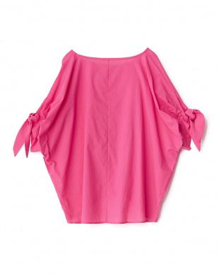 ピンク  MX 裾タックプルオーバー見る