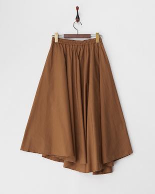 ブラウン  ボリュームアシンメトリースカート見る
