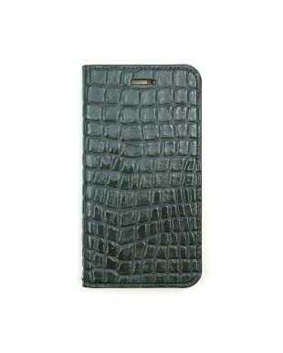 PEACOCK GREEN  Foliocase Croco iPhone7用見る