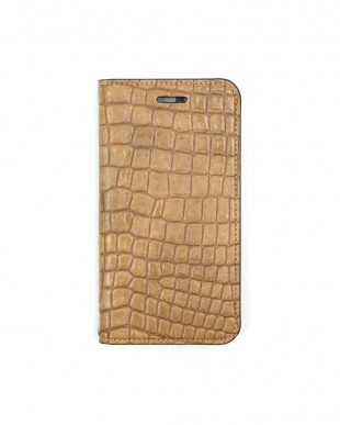 MUSTARD BEIGE  Foliocase Croco iPhone7用見る