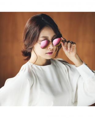 Rose Gold_Mirror (Pink) DIO アイウェア見る