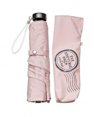 ピンク  晴雨兼用ミニ傘見る