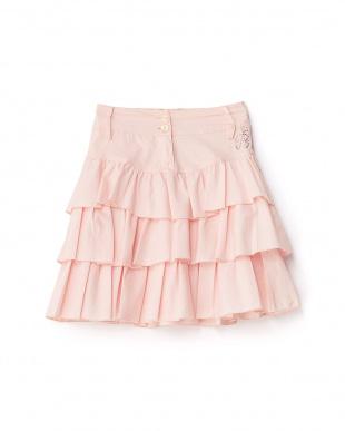 ピンク ティアードスカート 4Y~見る