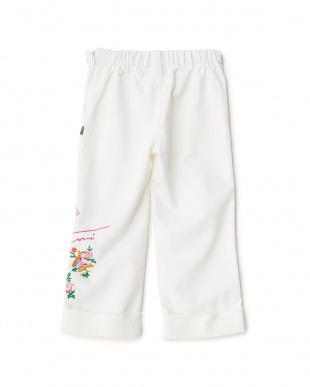 シロ 刺繍パンツ 3Y~見る