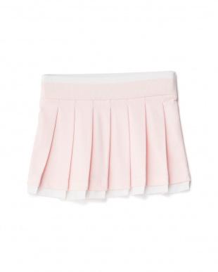 ピンク ミニ裏毛プリーツスカート 10Y見る
