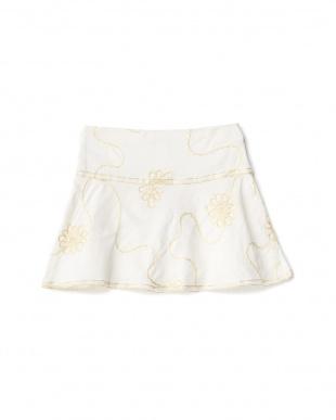 シロ 金糸刺繍スカート 2Y~見る