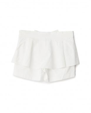 シロ 重ね着風スカート×ショートパンツ 8Y~見る
